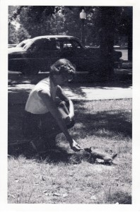 Mom courting rabies 1956