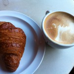 Croissant and cappucino.1. 2-17-14