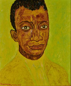 Portrait of James Baldwin, 1965, oil on canvas, 25.5 by 21.25 inches, signed lower left. Estate of Beauford Delaney, by permission of Derek L. Spratley, Esquire, Court Appointed Administrator. Photo:  courtesy of Levis Fine Art