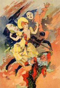 1896 -1900 Circus Poster. Jules Chéret [Public domain], via Wikimedia
