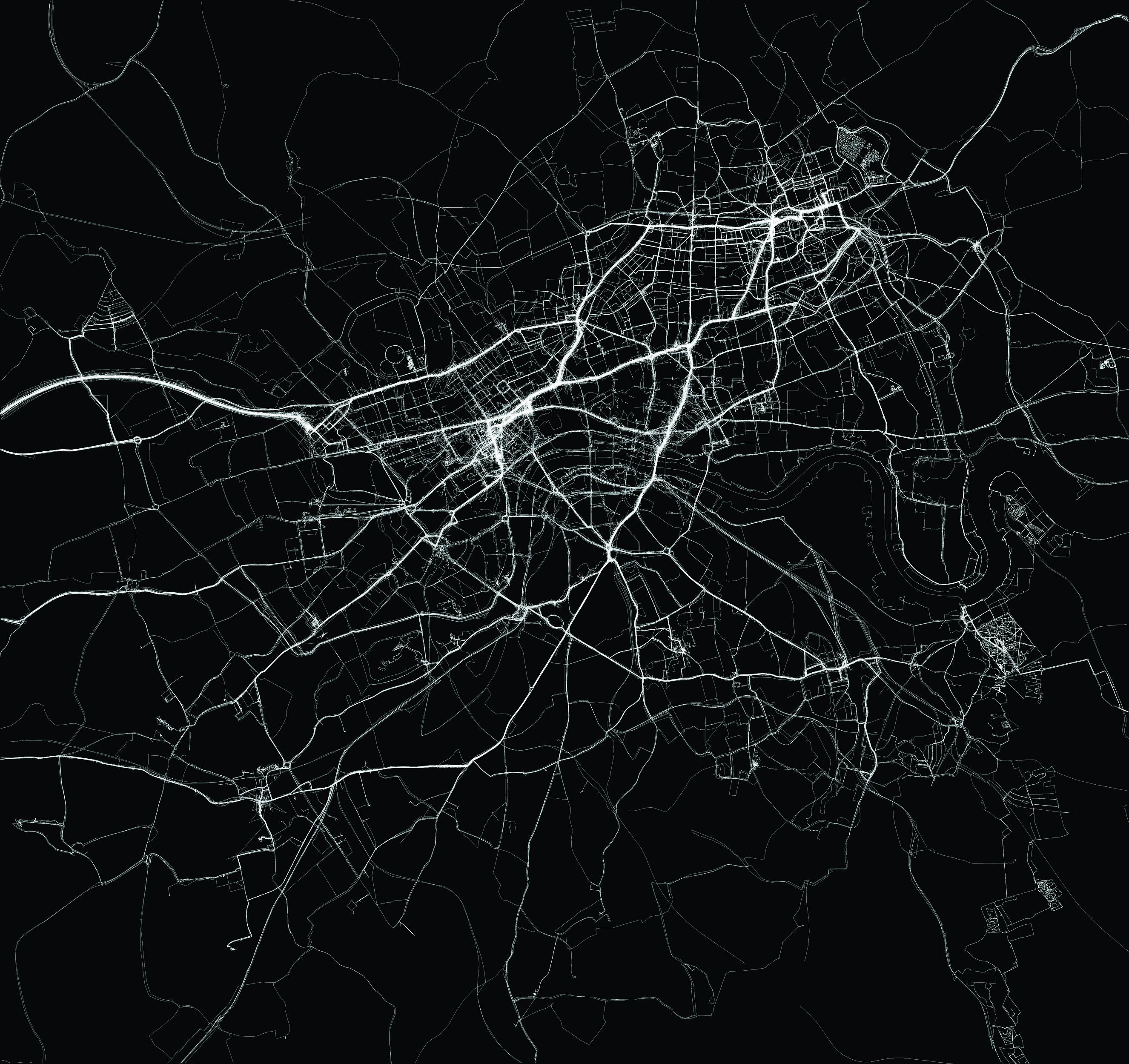 """My Ghost,"" London GPS Map."